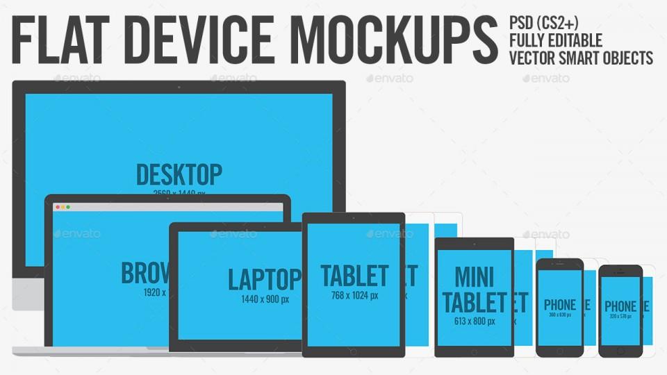 Flat Device Mockups
