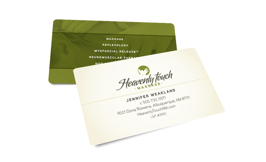 Heavenly Touch Massage Business Card