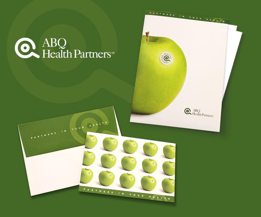 ABQ Health Partners Folder & Thank You Card