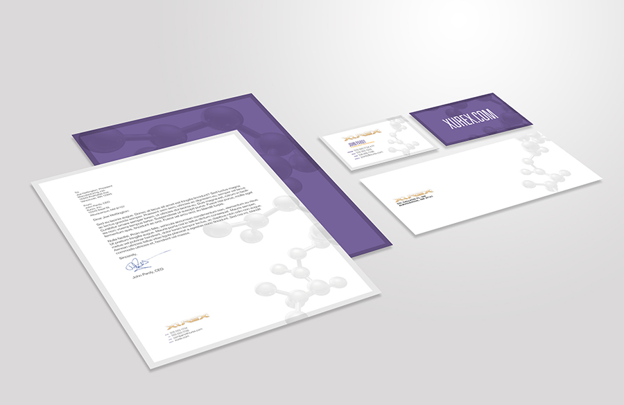 Xurex Logo Stationery